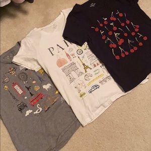 Set of 3 j crew medium collection tees